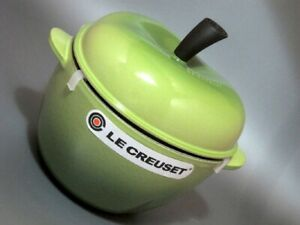 Very Rare !! Le Creuset Cocotte Fruit Apple Green Color Unused Cute !!