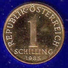 AUSTRIA 1 SCELLINO SCHILLING 1985 #8412