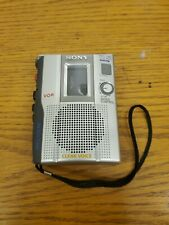 Sony TCM-200DV Handheld Silver Portable Cassette Voice Recorder UNTESTED