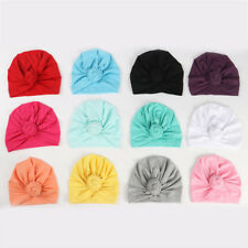 d0096b7b Headwrap Solid Color Kids Baby Turban Ball Knot Newborn Beanie Hat Winter  Cap 1X