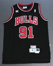 Retro Dennis Rodman #91 Chicago Bulls Basketball Jersey Black