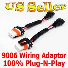 Heavy Duty 9006 HB4 9012 Wiring Harness Sockets Pre Wired Plug-n-Play