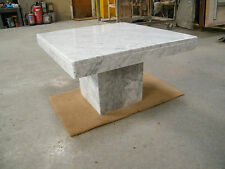 coffee table in polished WHITE CARRARA MARBLE  70x70cm