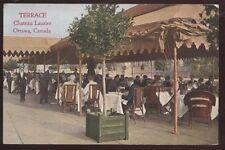 Postcard OTTAWA Ontario/CANADA  Chateau Laurier Outdoor Terrace Restaurant 1907?