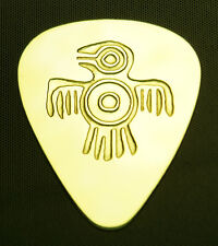 NATIVE AMERICAN EAGLE - Solid Brass Guitar Pick, Acoustic, Electric, Bass