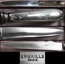 ORBRILLE : Scie à pain en métal argenté & lame Inox - style Louis XV