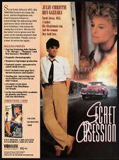 SECRET OBSESSION__Original 1988 Trade print AD promo__JULIE CHRISTIE_BEN GAZZARA