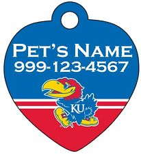 Kansas Jayhawks NCAA Pet Id Tag for Dogs & Cats   Personalized for Your Pet