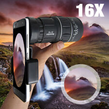 ☆ 16x52 Zoom Monocular Telescope Mobile Phone Camera Lens Kit For iPhone