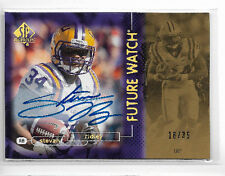 2011 Upper Deck SP Authentic Stevan Ridley Retro Future Watch Auto Rc # to 35