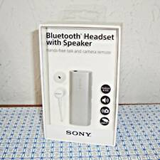 NEW SONY SBH56 BLUETOOTH HEADSET WITH SPEAKER & CAMERA SHUTTER BUTTON - SILVER