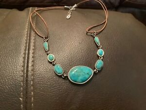 """SIGNED Barse  Necklace-Turquoise, -Sterling Silver-18"""""""
