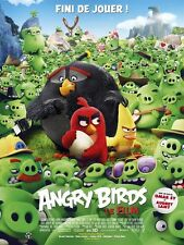 Affiche 120x160cm ANGRY BIRDS 2016 Clay Kaytis, Reilly - Film d'animation TBE