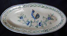 """""""C54"""" : Grand Plat ovale (début XXè) décor au coq (céramique """"populaire"""")"""