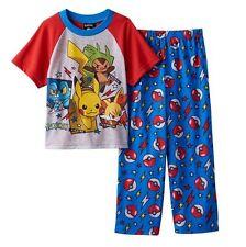 Pokemon PIKACHU Pajamas Boy's 10 NeW S/S Shirt and Lounge Pants Pjs Set NWT