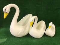 Blow Mold Plastic Swan Planters Set Of 3 Union Products New