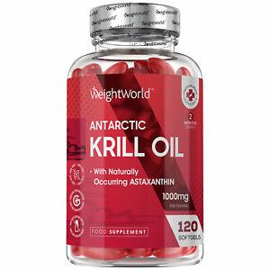 Pure Krill Oil 120 Softgel Capsules | Supplement for Brain, Joints & Skin Diet