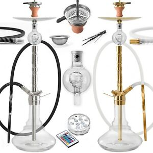 DILAW® SAPHIR Shisha Edelstahl Set Hookah Komplettset Wasserpfeife Molassefänger
