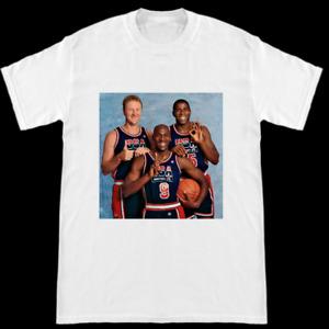1992 Olympic Dream Team Larry Bird Michael Jordan Ervin Magic Johnson T-Shirt