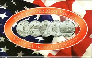 2007 US Denver Mint Edition State quarter proof collection with COA
