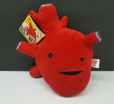 """New w/ Tags - I Heart Guts - Red Heart 10"""" Large Plush Cardiologist"""