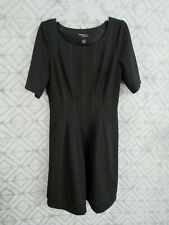 Signature By Robbie Bee Dress Size L Black Pull Over Short Sleeve Round Neck