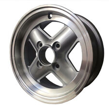 SET OF 4 CLASSIC MINI REVOLUTION WHEELS - 5 X 12 4 SPOKE SILVER