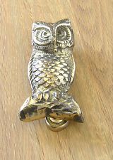 Door Knocker, Brass, Owl Design, Polished Finish.