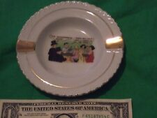 vintage humorous ashtray two old fashioned please--isent a chery hear porcelain