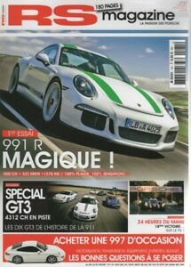 RS MAGAZINE 181 PORSCHE 996 GT3 996 GT3 RS 997 GT3 997 GT3 RS 991 GT3 991 GT3 RS