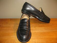 Emling Chaussures Paris Mens 7.5 Black Slip-on Penny Loafers Shoes France