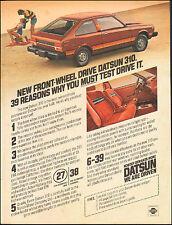 1979`Vintage ad Datsun 310`Maroon Photo Interior Nissan (010116)