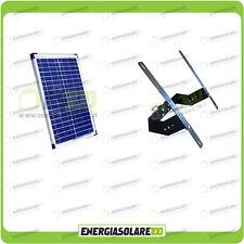 Kit Supporto Pannello Solare 20W 12V Testapalo giardino illuminazione