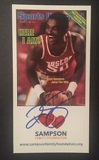 Ralph Sampson Signed 4x8 Photocard Houston Rockets HOF