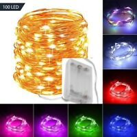 2/3/5/10 M Battery Powered Copper Wire String Fairy Xmas Party Lights Warm/White