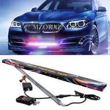 48LED 7-Color RGB  Knight Rider Strip Light Warning Bar Wireless Remote Grille