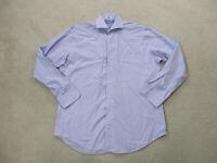 Peter Millar Button Up Shirt Adult Large Blue Purple Striped Long Sleeve Mens