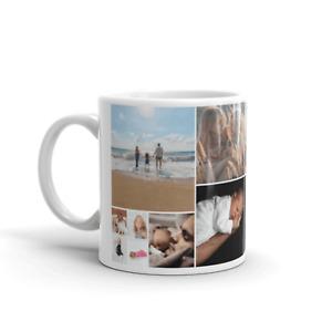 PERSONALISED MUG UPTO 6 PHOTO COLLAGE CUP BIRTHDAY CHRISTMAS MOTHER FATHER GIFT