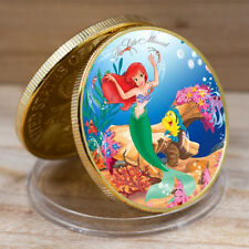 Art Ornament Mermaid Commemorative Gold Plated Metal Coin Festival Gift