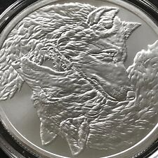 Two Wolves 1 oz .999 Silver Coin Cherokee 2021 Round BU