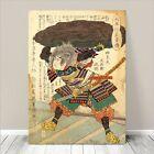 "Vintage Japanese SAMURAI Warrior Art CANVAS PRINT 8x12""~ Kuniyoshi #221"