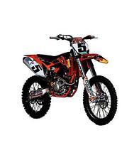 Motocicletas y quads de automodelismo y aeromodelismo motocross de plástico de escala 1:18