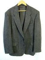 Woolrich Men's Wool Blend Plaid weave Sport Suit Coat Blazer Size L USA Mint!