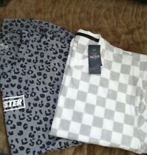 Men's Hollister  T-Shirt  M Medium  grey/white new* leopard one worn once