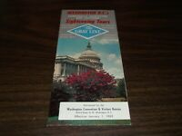 1963 GRAY LINE HOW TO SEE WASHINGTON, DC BROCHURE