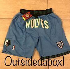 New! Minnesota Timberwolves Blue Basketball Shorts W/ Pockets Men's Size Large