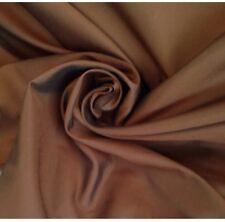 18 Metres Quality Faux Silk Taffeta Curtain & Craft Fabric In Chocolate