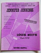 Partition vintage sheet music LOUIS NEEFS : Jennifer Jennings * 60's Eurovision