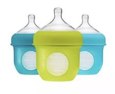 Boon Nursh Silicone Pouch Bottle 4oz 3pk - Blue Multi