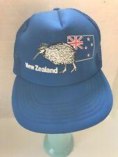 Vintage New Zealand Blue Mesh Travel Snapback Trucker Hat